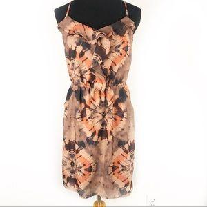 GIANNI BINI | Tan Tie Dye Lace Racerback Dress S